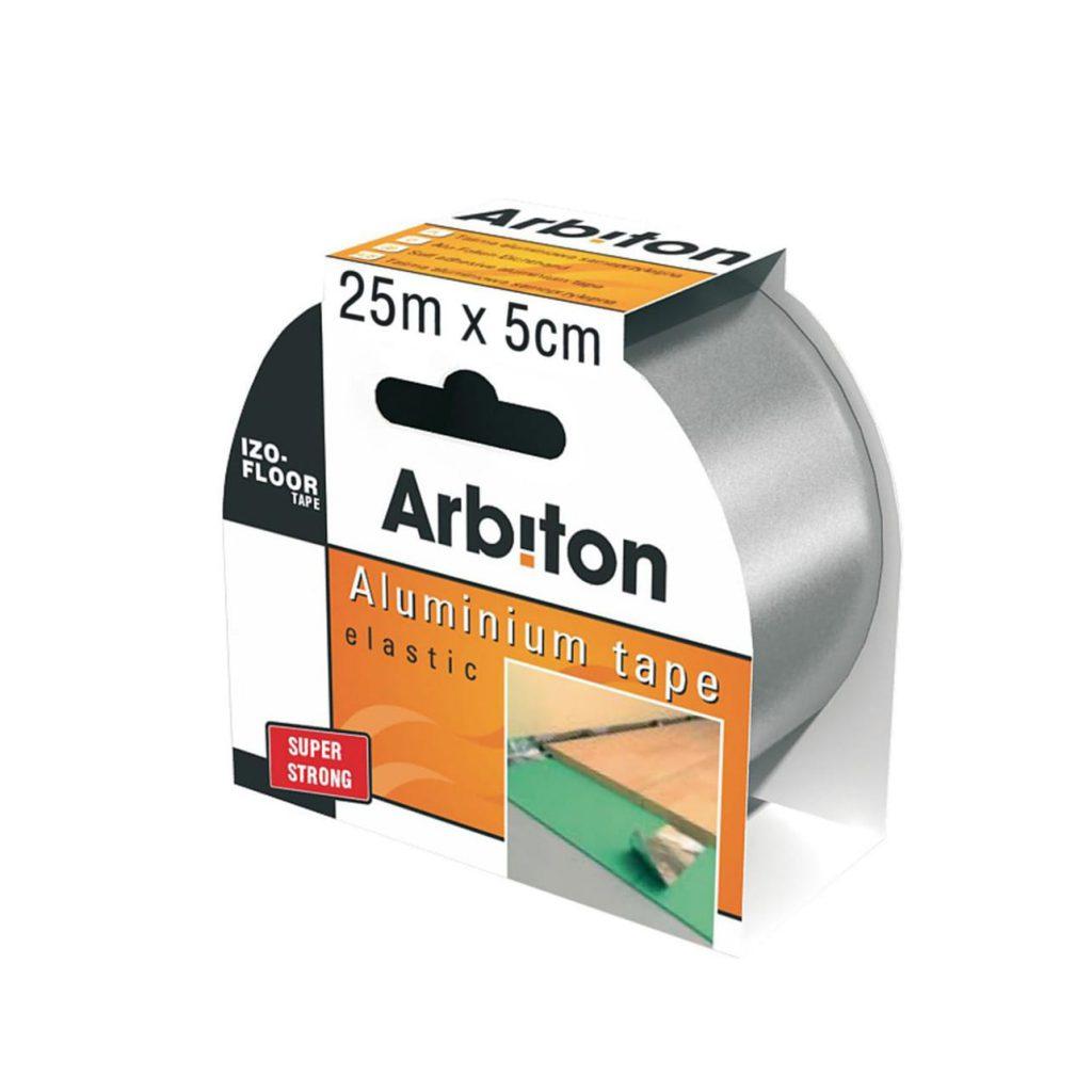 скотч ARBITON ALU TAPE 5cм 25м толщина 0,05мм для склеивания подложки между собой