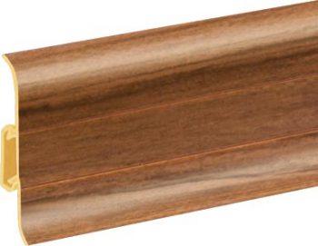 Плинтус пластиковый CEZAR Premium матовый Африканский Орех М131
