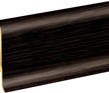 Плинтус пластиковый CEZAR Premium матовый Wenge тёмный М200