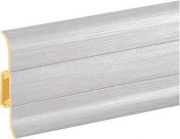 Плинтус пластиковый CEZAR Premium матовый Aluminium szczotkowane М201