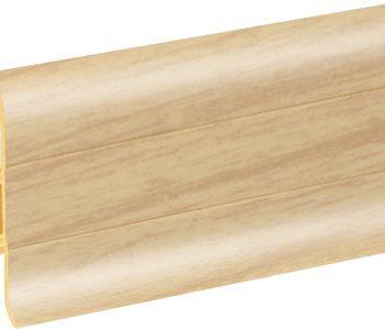 Плинтус пластиковый CEZAR Premium матовый Ясень светлый М084