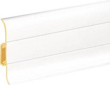 Плинтус пластиковый CEZAR Premium матовый белый М089