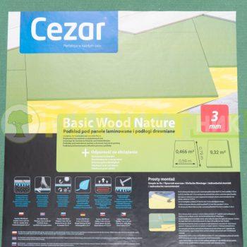 Подложка древесно волокнистая под ламинат и паркет Cezar Basic Wood Nature 3мм
