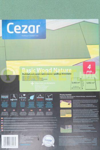 Подложка древесно волокнистая под ламинат и паркет Cezar Basic Wood Nature 4мм