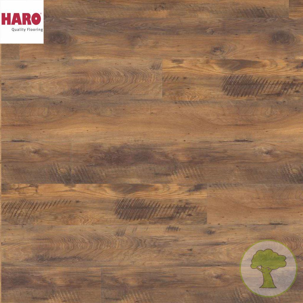 Ламинат HARO GRAN VIA 4V Дуб Винтаж (Старый дуб) 526712 32кл. 2200mmх243mmх8mm 5 планок 2,68 кв.м/уп