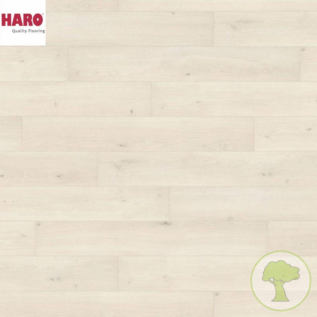 Ламинат HARO Tritty 100 4V Дуб Эмилия белый 538689 32кл. 1282mmx193mmx8mm 8планок 1,98 кв.м/уп