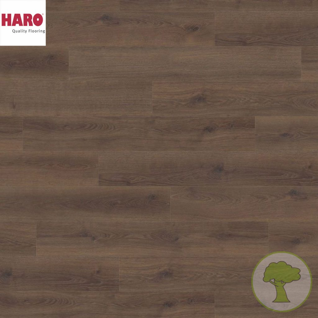 Ламинат HARO Tritty 100 4V Дуб Kонтура дымчатый 538697 32кл. 1282mmx193mmx8mm 8планок 1,98 кв.м/уп