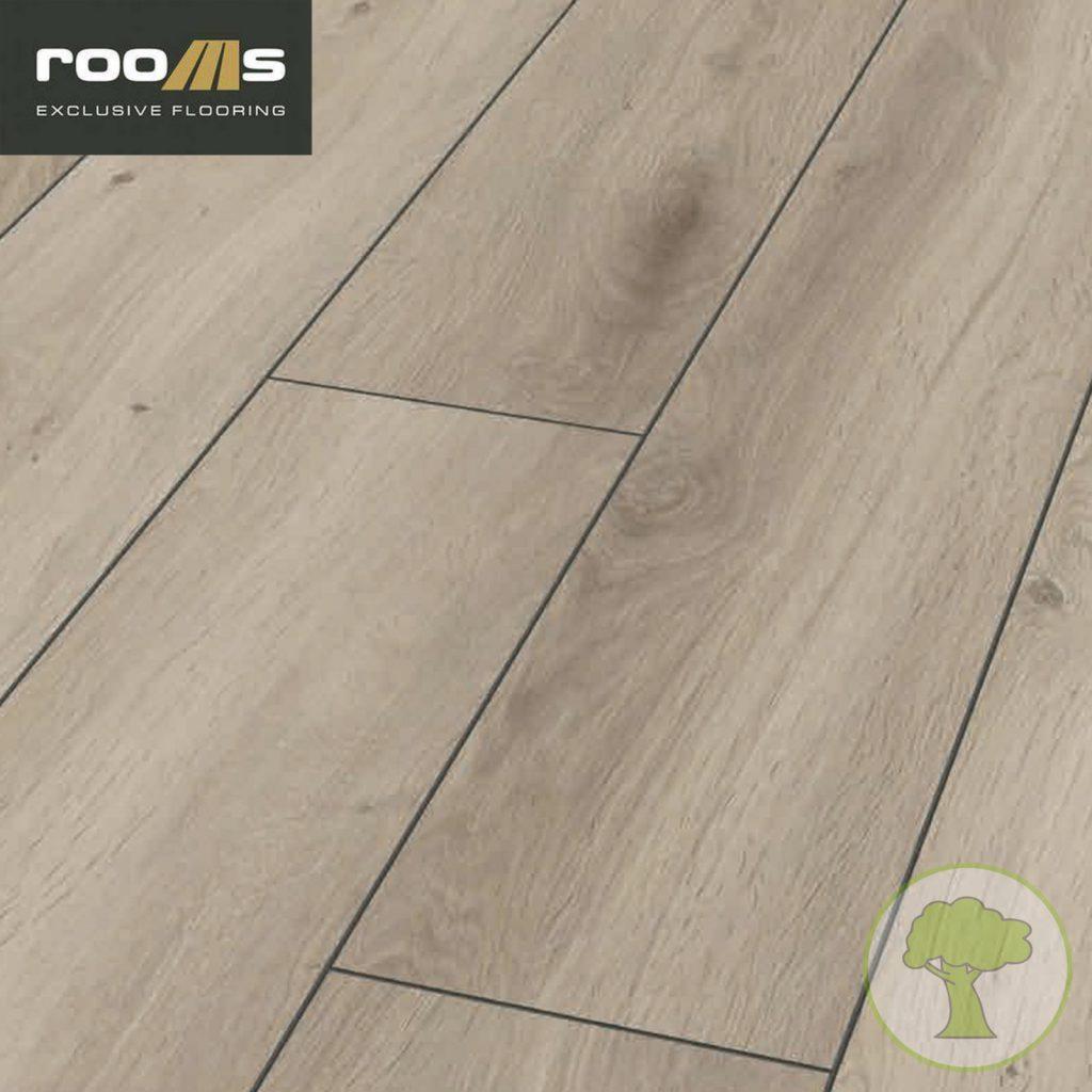 Ламинат ROOMS LOFT R 1009 Дуб Серебро V4 5G 33/AC5 1380mmх193mmх10mm; 6пл. 1,598м²/уп