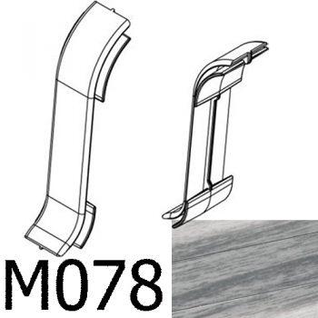 Соединитель CEZAR Premium стыковой матовый Дуб Серый М078