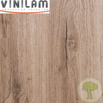 Виниловый ламинат Vinilam Click 3.7mm 8838 Дуб Дамп 43кл 4Vmicro 1219mmх184mmх3.7mm 14пл. 3.15м2/уп
