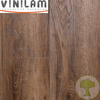 Виниловое покрытие VINILAM CERAMO click 4.5 mm с подложкой 8885 Дуб Берн 43кл 4Vmicro 1520mmх225mmх4.5mm 8пл. 2.74м2/уп