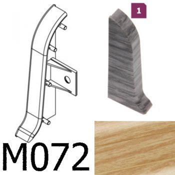 Соединитель -торцевая заглушка левая CEZAR Premium матовый Тик М072