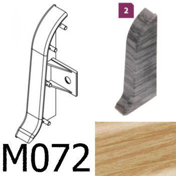 Соединитель -торцевая заглушка правая CEZAR Premium матовый Тик М072