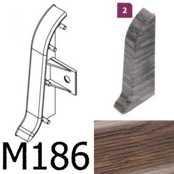 Соединитель -торцевая заглушка правая CEZAR Premium матовый Дуб Monaster М186