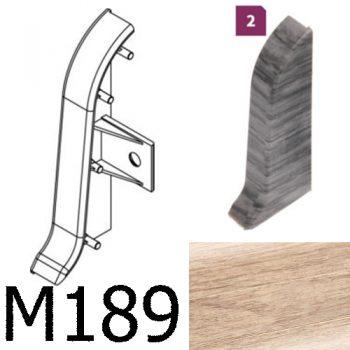 Соединитель -торцевая заглушка правая CEZAR Premium матовый Дуб Alpejski М189
