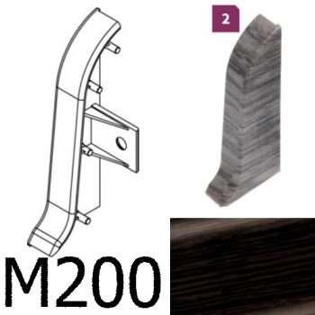 Соединитель -торцевая заглушка правая CEZAR Premium матовый Wenge Тёмный М200