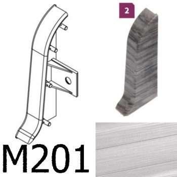 Соединитель -торцевая заглушка правая CEZAR Premium матовый Aluminium szczotkowane М201