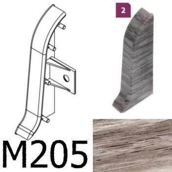 Соединитель -торцевая заглушка правая CEZAR Premium матовый Дуб Carballo М205