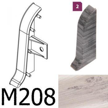 Соединитель -торцевая заглушка правая CEZAR Premium матовый Дуб Chillout М208