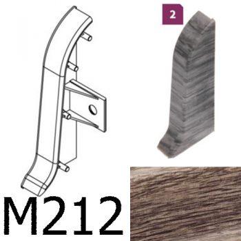 Соединитель -торцевая заглушка правая CEZAR Premium матовый Дуб Skalisty М212